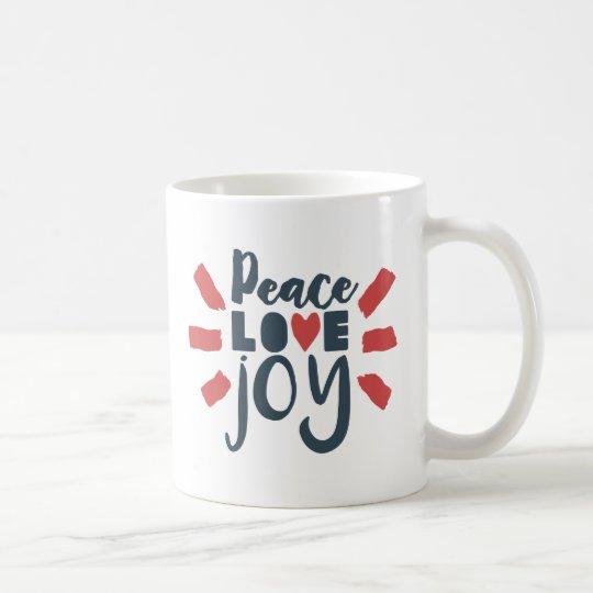 Red White Blue Peace Love Joy Gift Mug