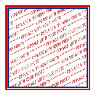 Red White & Blue Photo Frame Template Photo Cutouts