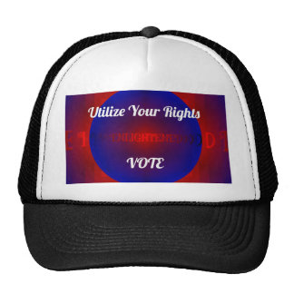 Red White Blue Political Right To Vote Abstract Trucker Hat