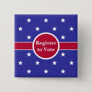 Red, White & Blue Register to Vote Button