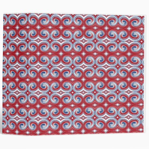 Red White & Blue Ribbon Avery Binder 2.8
