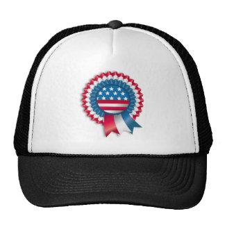 Red White Blue Ribbon Hats