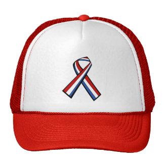Red White Blue ribbon hat
