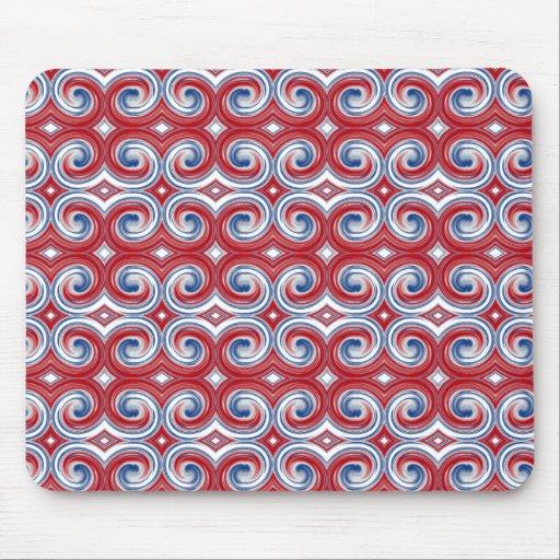 Red White & Blue Ribbon Mousepad