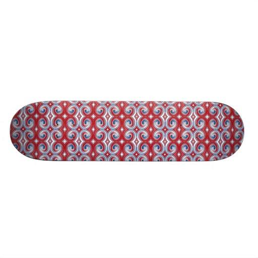Red White & Blue Ribbon Skateboard