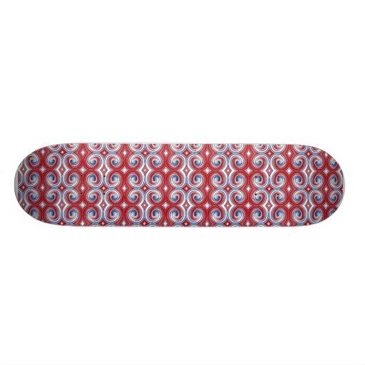 Red White & Blue Ribbon Skateboard Mini