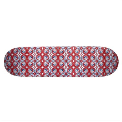 Red White & Blue Ribbon Skateboard Oldschool