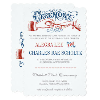 Red White Blue Roaring 20s Typography Invite