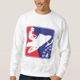 red-White-Blue-Sled-zazzle Sweatshirt