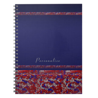 Red White & Blue Sparkle Sequins 4th of July Bling Notebooks