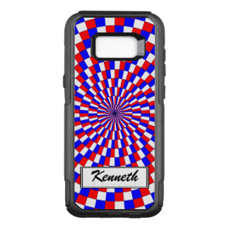Red White Blue Spiral by Kenneth Yoncich OtterBox Commuter Samsung Galaxy S8+ Case
