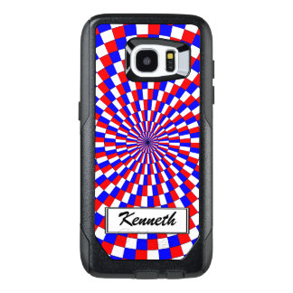Red White Blue Spiral by Kenneth Yoncich OtterBox Samsung Galaxy S7 Edge Case