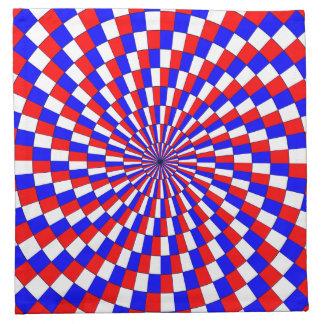 Red White Blue Spiral Napkins