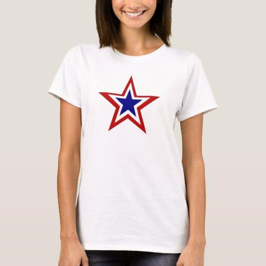 red white blue star T-Shirt