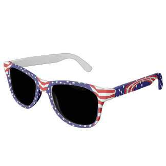 Red White Blue Stars and Stripes Patriotic Sunglasses