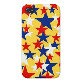 Red White Blue Stars I-pod Touch Case Covers For iPhone 4