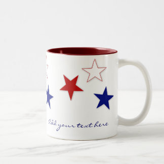 Red, White & Blue Stars Mug