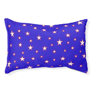 Red White Blue Stars Pet Bed