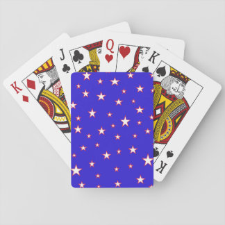 Red White Blue Stars Playing Cards