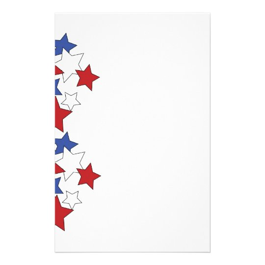 Red, White & Blue stars stationary Stationery Paper