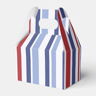 Red white blue stripe gable favor box