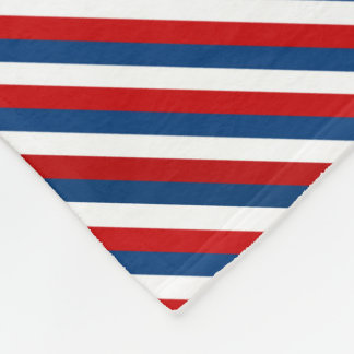 Red White Blue Striped Pattern Fleece Blanket
