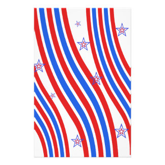 Red, White,  Blue, Stripes and Stars Personalized Flyer