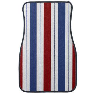 Red White Blue Stripes Car Mat