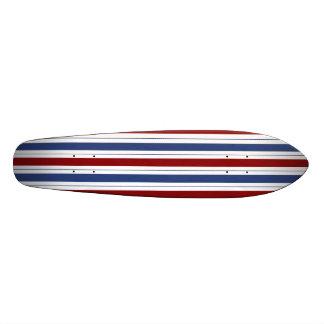 Red White Blue Stripes Custom Skate Board