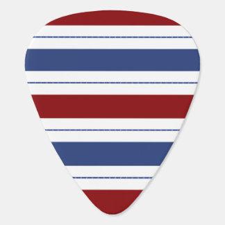 Red White Blue Stripes Guitar Pick
