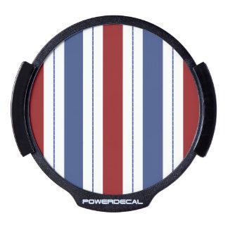 Red White Blue Stripes LED Car Decal