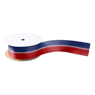 Red White Blue Stripes Satin Ribbon
