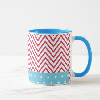 Red White Blue Stripes Stars Mug