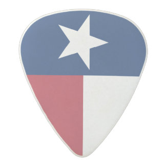 Red White Blue Texas Flag Acetal Guitar Pick