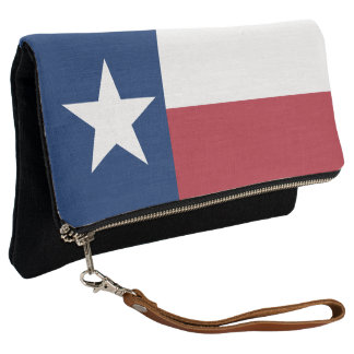 Red White Blue Texas Flag Clutch