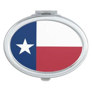 Red White Blue Texas Flag Makeup Mirror
