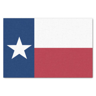 Red White Blue Texas Flag Tissue Paper