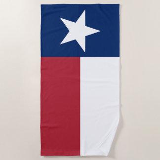 Red, White, Blue, Texas Lone Star Flag Beach Towel
