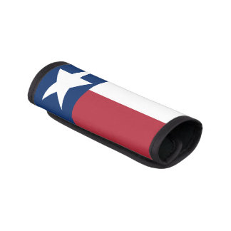 Red, White, Blue, Texas Lone Star Flag Luggage Handle Wrap