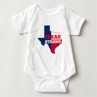 "Red, White & Blue ""Texas Strong"" Baby Bodysuit"