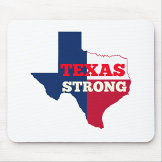 """Red, White & Blue """"Texas Strong"""" Mouse Pad"""