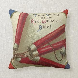 Red White & Blue Throw Pillow