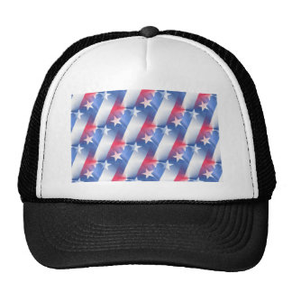 red white blue trucker hat