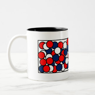 Red, White & Blue Two-Tone Coffee Mug