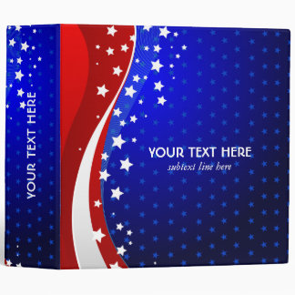 Red White & Blue - USA Flag Stars And Stripes Binder