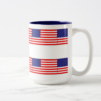 RED WHITE BLUE USA MUG