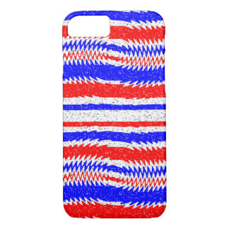 Red White Blue Waving Lines Apple iPhone 7 Case
