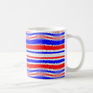 Red White Blue Waving Lines Coffee Mug
