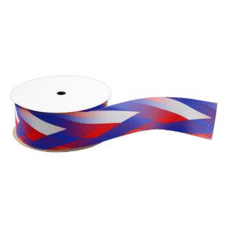 Red,White, Blue Weave Grosgrain Ribbon