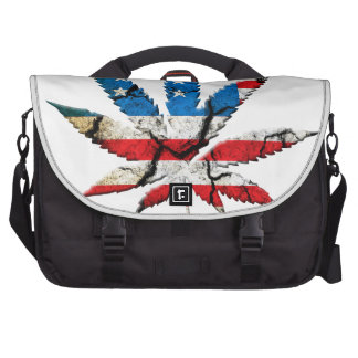 Red White Blue Weed Laptop Commuter Bag